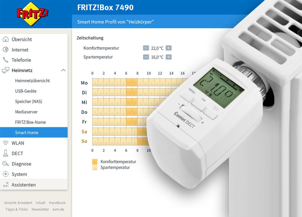 Heizungssteuerung mit FRITZ!OS 6.5