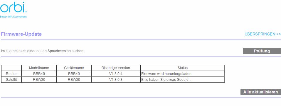 Netgear Orbi - Firmware Update