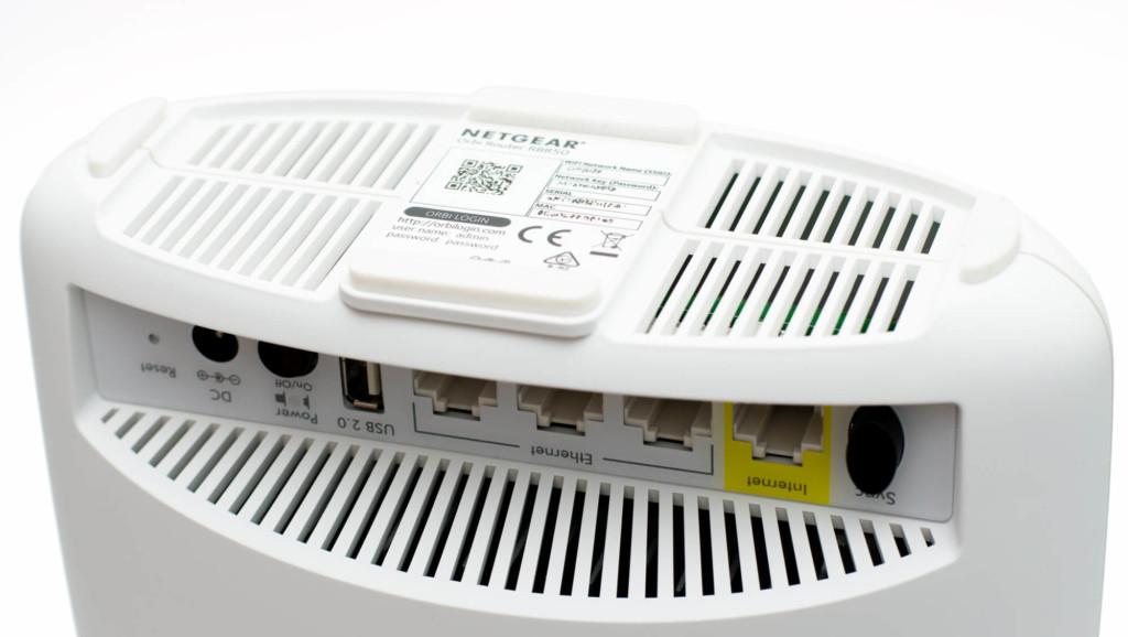 Netgear Orbi - WLAN-Zugangsdaten (Geräteunterseite)